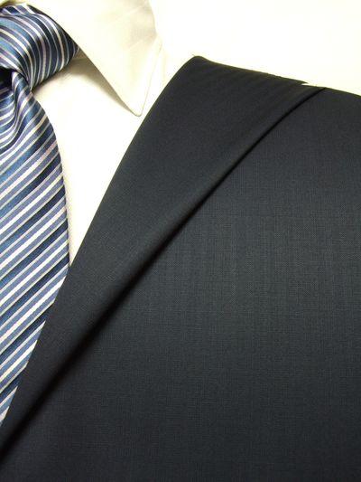 レダ ネイビー系 シャドー ストライプ オーダースーツ 秋冬用素材 ウール100% ポリ0% 97823-38