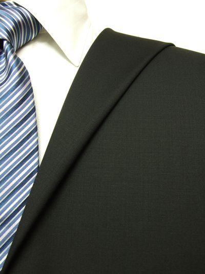 カノニコ ブラック系 無地 オーダースーツ 秋冬用素材 ウール100% ポリ0% 97829-15