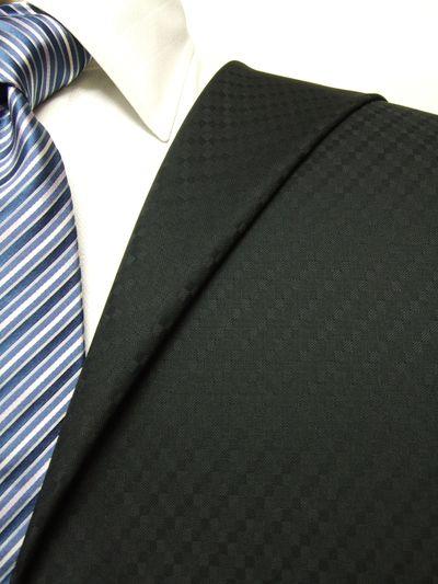 カノニコ ブラック系 織柄 オーダースーツ 秋冬用素材 ウール100% ポリ0% 97840-12