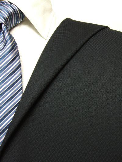 カノニコ ネイビー系 織柄 オーダースーツ 秋冬用素材 ウール100% ポリ0% 97841-28