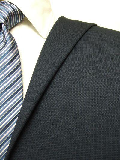 カノニコ ネイビー系 織柄 オーダースーツ 秋冬用素材 ウール100% ポリ0% 97844-20