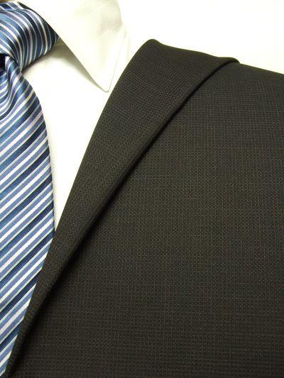 カノニコ ブラウン系 織柄 オーダースーツ 秋冬用素材 ウール100% ポリ0% 97844-62