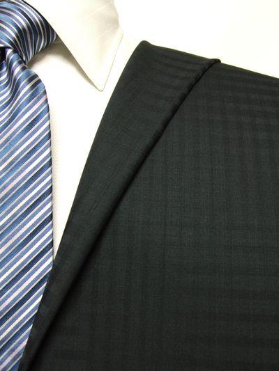 ロイヤルステージ ネイビー系 シャドー チェック オーダースーツ 春夏用素材 ウール100% ポリ0% 5bc906