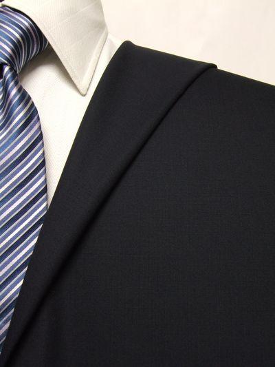 フラッグシップ ネイビー系 無地 オーダースーツ 春夏用素材 ウール100% ポリ0% 02405-24