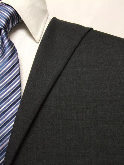 フラッグシップ グレー系 無地 オーダースーツ 春夏用素材 ウール100% ポリ0% 02405-40