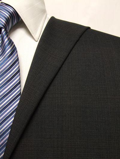 フラッグシップ グレー系 チェック オーダースーツ 春夏用素材 ウール100% ポリ0% 02410-40