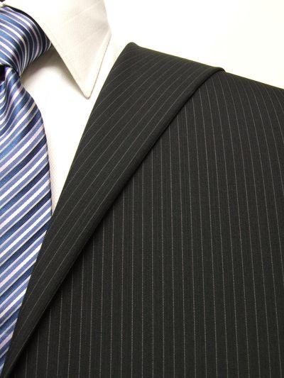 ファーストコレクション グレー系 ストライプ オーダースーツ 春夏用素材 ウール52% ポリ48% 02415-47