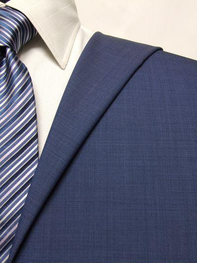 カノニコ ブルー系 織柄 オーダースーツ 春夏用素材 ウール100% ポリ0% 02831-34