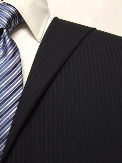 レダ ネイビー系 シャドー ストライプ オーダースーツ 春夏用素材 ウール100% ポリ0% 02904-32