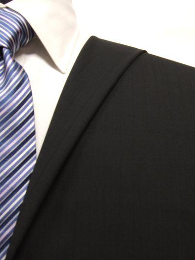 エグゼグティブ ブラック系 シャドー ストライプ オーダースーツ 春夏用素材 ウール50% ポリ30% ナイロン20% 5bc030