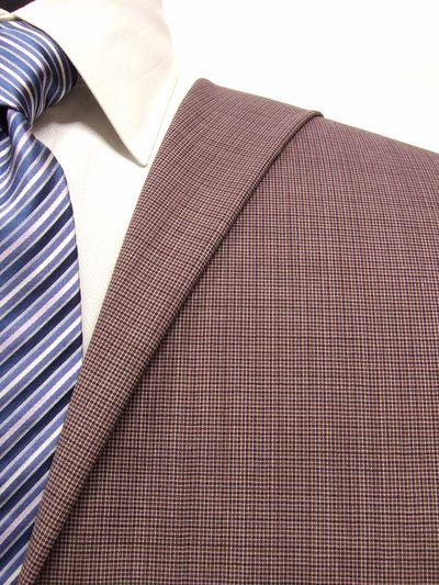 エグゼグティブ ブラウン系 織柄 オーダースーツ 春夏用素材 ウール50% ポリ30% ナイロン20% 5bc035