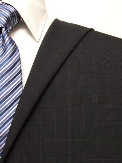 ファーストコレクション ネイビー系 チェック オーダースーツ 春夏用素材 ウール70% ポリ30% 95408-22