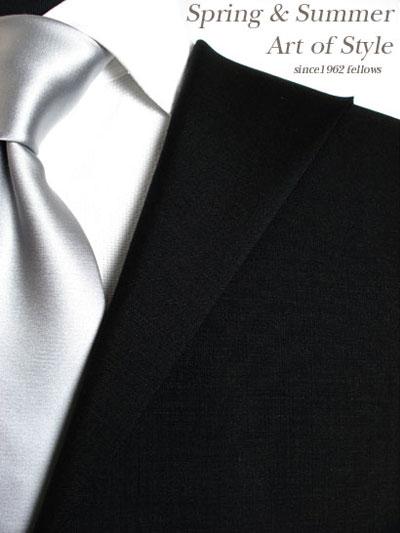【ブラックスーツ】ブラック無地のオーダーフォーマルスーツ(春夏用 ウール80% ポリ20% 日本製)【】