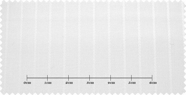 ファーストコレクション ホワイト系 シャドーストライプ オーダーシャツ 綿50% ポリ50% 3000350009