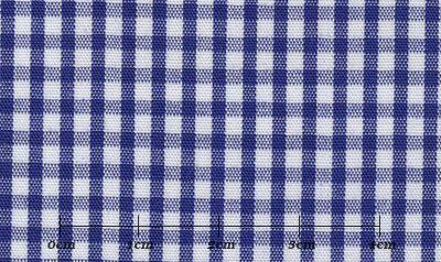 ファーストコレクション ブルー系 チェック オーダーシャツ 綿50% ポリ50% 3090330381