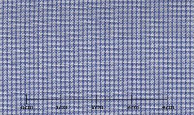 ファーストコレクション ブルー系 チェック オーダーシャツ 綿50% ポリ50% 3090350008