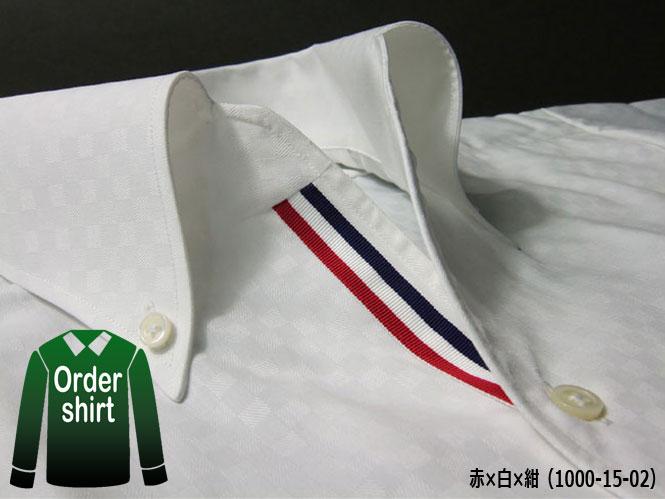 フェローズ 沖縄 トリコロール 夏シャツ メンズ イタリアンカラー オーダーシャツ 白 ホワイト コットン100%