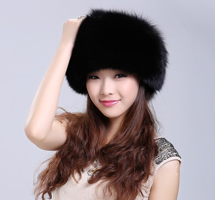 ポンポン付き 毛皮 ハット フォックスファー帽子 モンゴル帽子 ファーハット アウトドア ゆるい帽子 暖かいメンズ レディースm55
