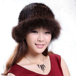 レディース婦人用 ファー 帽子 ミンクファー帽子 キャップ フォックスファー帽子 ファーハット 編込み帽子 毛皮 ハット 毛皮 帽子m38