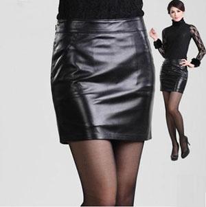 ラムレザースカート タイトスカート ペンシルスカート ミニスカート レディースファッション ボトムス ladies skirt 春 秋 冬 本革 シンプル ショート丈 光沢感 黒 ブラック S~XXXLサイズ