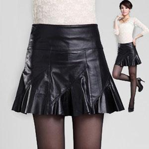 フレアスカート 本革 ラムレザー スカート ミニスカート レディース ボトムス 美ライン ハイウエスト 裾切りっぱなし 6サイズ