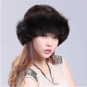 毛皮 ハット 男女兼用 毛皮 ミンク フォックスファー 帽子 ハット 毛皮 ハット ロシア帽m22