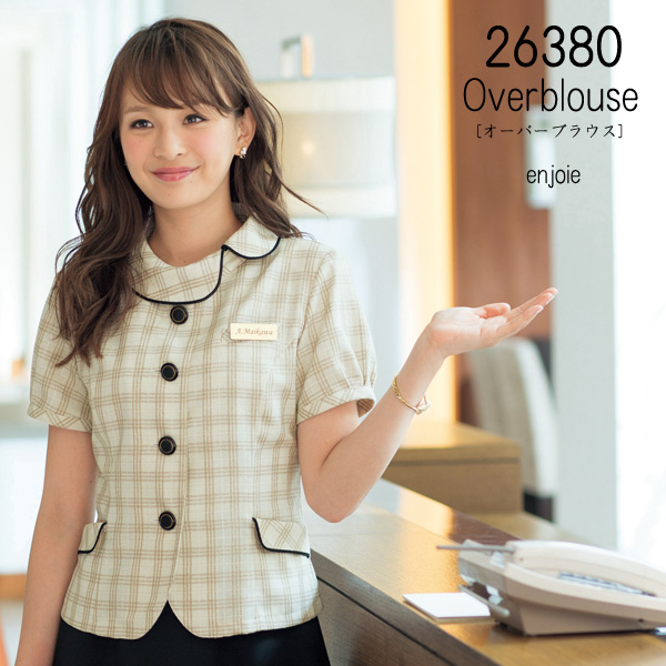 【ジョア】事務服 オーバーブラウス(17-19号)26380 JOIE