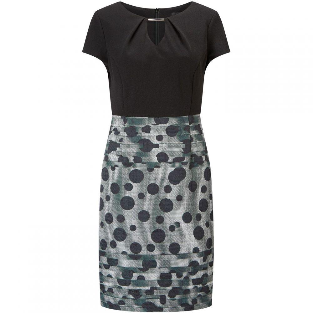 ジュームズ レイクランド James Lakeland レディース パーティードレス ワンピース・ドレス【Dots Print Skirt Dress】Grey
