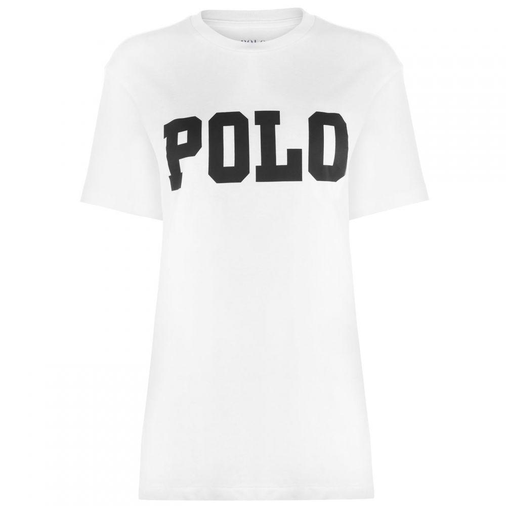 ラルフ ローレン POLO RALPH LAUREN レディース Tシャツ ロゴTシャツ トップス【Big Logo Short Sleeve T Shirt】White