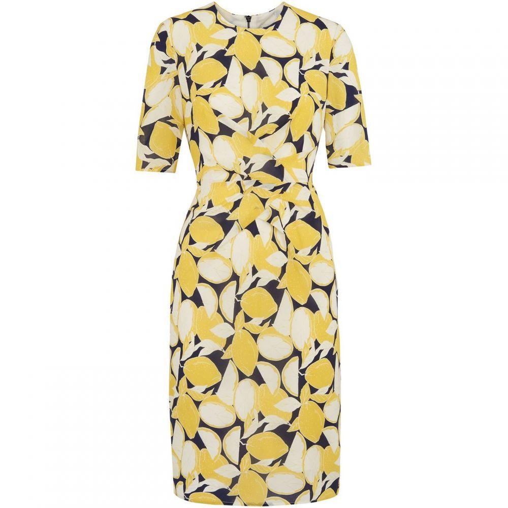 ホイッスルズ Whistles レディース ボディコンドレス ワンピース・ドレス【Phoebe Lemon Print Bodycon】Yellow