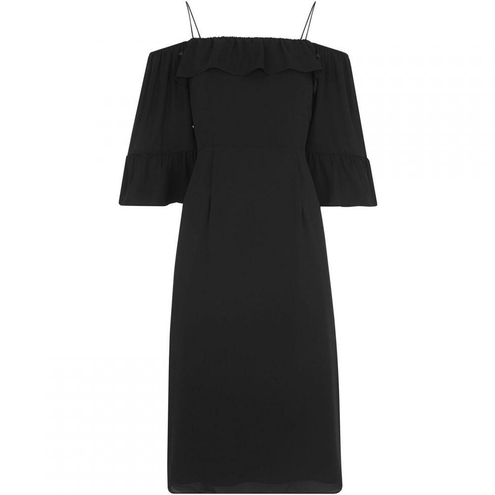 ホイッスルズ Whistles レディース ワンピース ワンピース・ドレス【Off Shoulder Frill Dress】Black