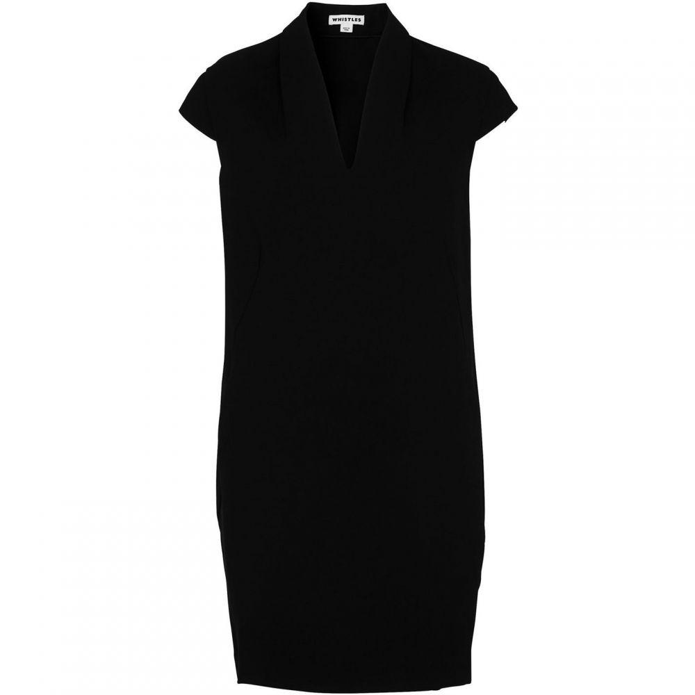 ホイッスルズ Whistles レディース ワンピース Vネック ワンピース・ドレス【Paige V Neck Crepe Dress】Black