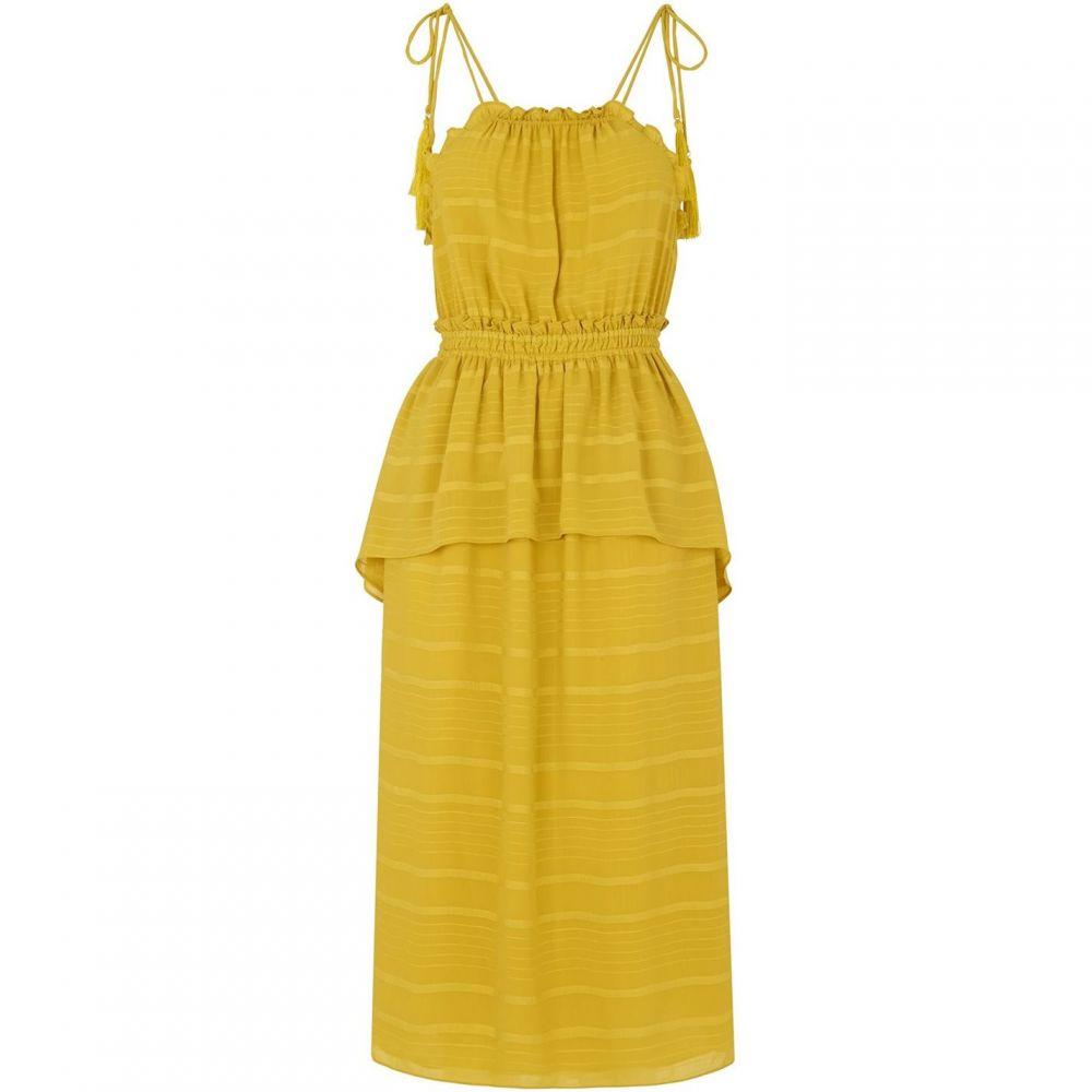 ホイッスルズ Whistles レディース ワンピース ワンピース・ドレス【Textured Ruffle Tie Dress】Yellow