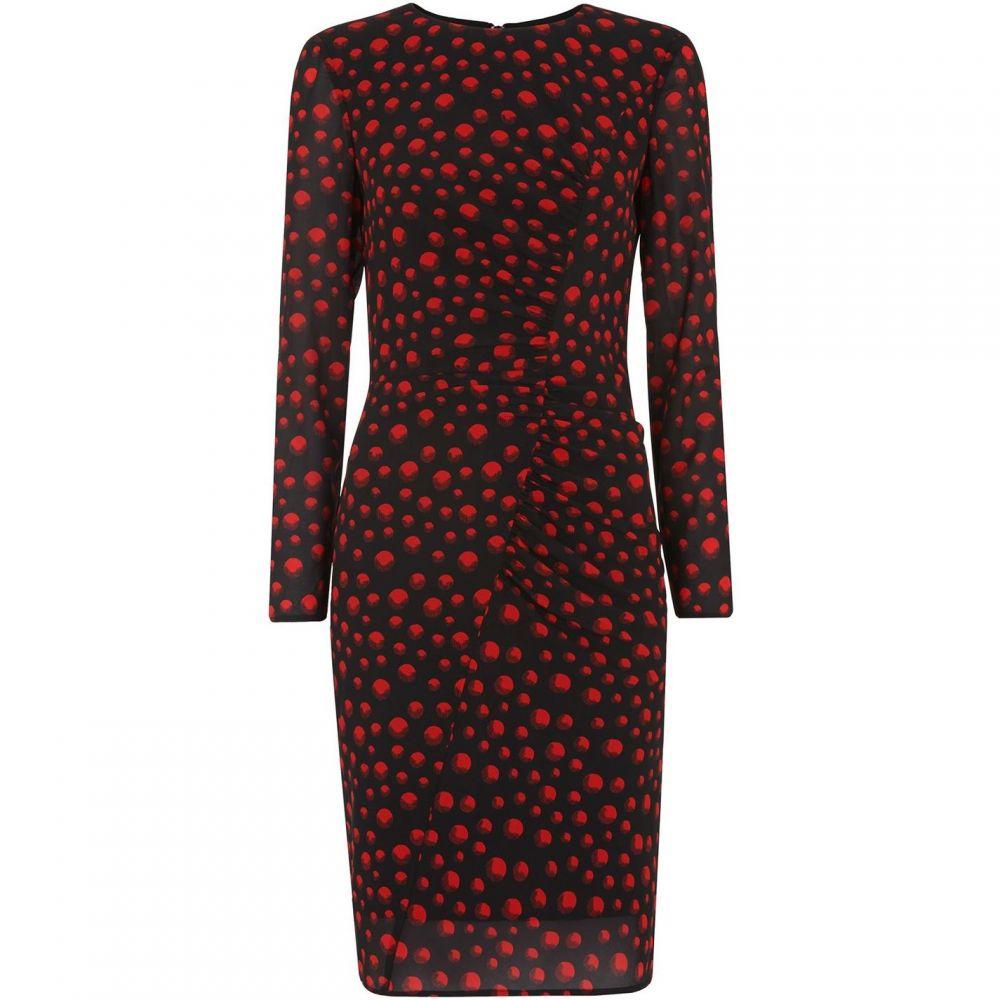 ホイッスルズ Whistles レディース ボディコンドレス ワンピース・ドレス【Maria Eclipse Print Silk Bodyc】Red