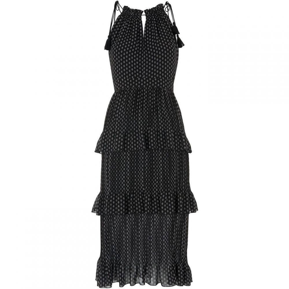 ホイッスルズ Whistles レディース ワンピース ティアードドレス ワンピース・ドレス【Imie Amena Print Tiered Dress】Black