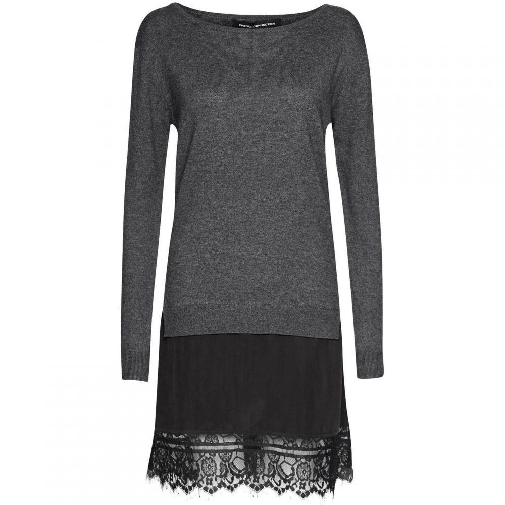 フレンチコネクション French Connection レディース ワンピース ワンピース・ドレス【Melba Layered Effect Jumper Dress】Dark Grey