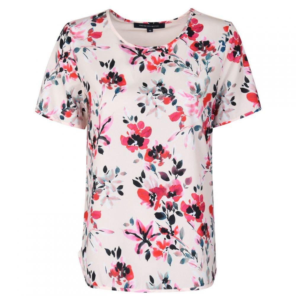 フレンチコネクション French Connection レディース Tシャツ トップス【T Shirt】Barley Pink