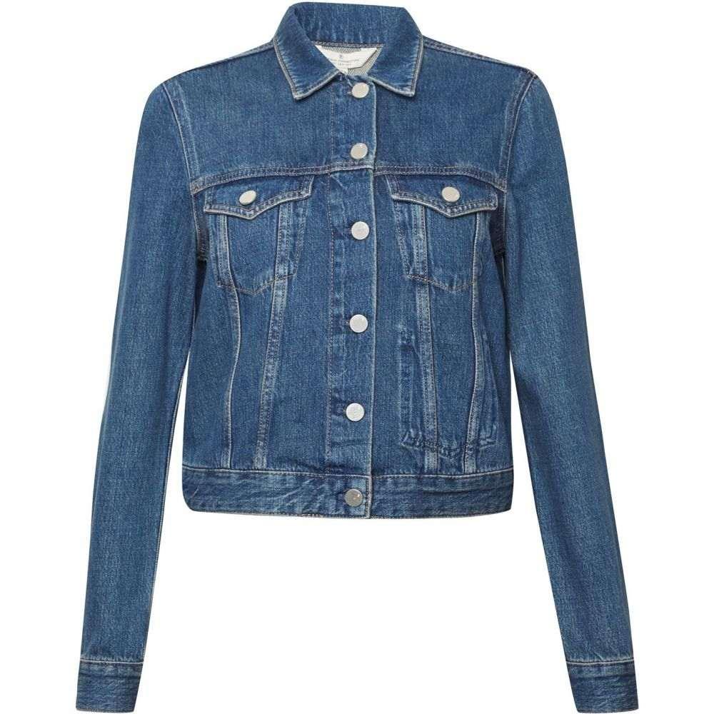 フレンチコネクション French Connection レディース ジャケット Gジャン アウター【Micro Western Denim Jacket】Blue