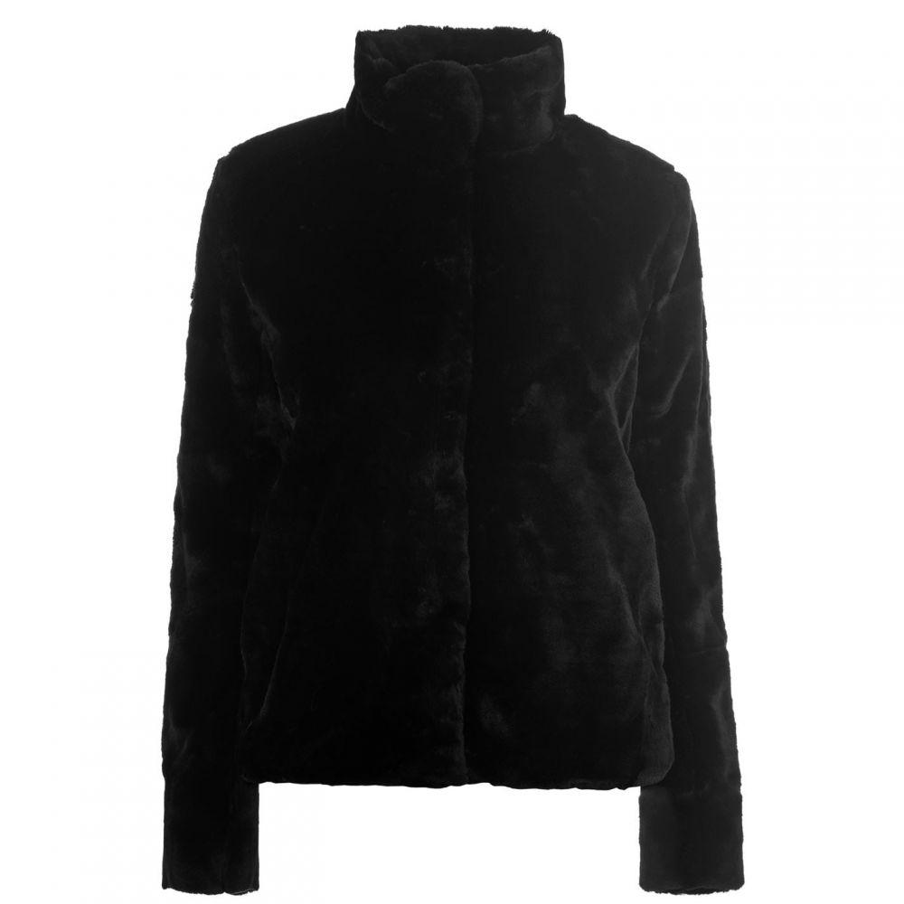 エムバイエム M by M レディース ジャケット アウター【Calliope Two Faux Fur Jacket】BLK