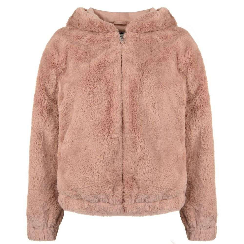 フレンチコネクション French Connection レディース ジャケット フード アウター【Faux Fur Hooded Jacket】Dk Teagown