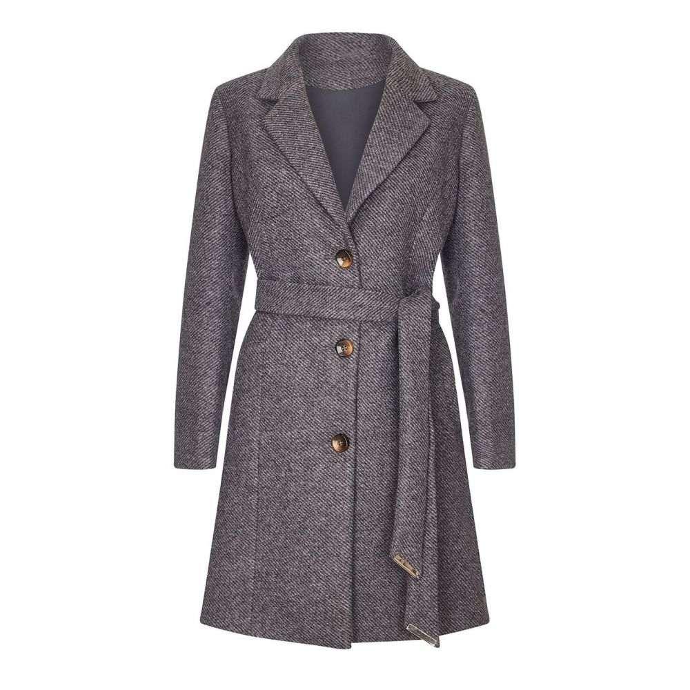 ユミ Yumi レディース コート アウター【Herringbone Coat】Grey