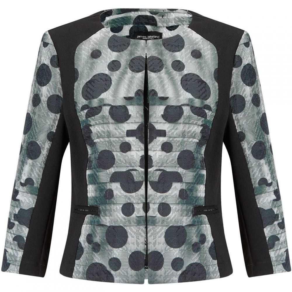 ジュームズ レイクランド James Lakeland レディース ジャケット アウター【Dots Print Jacket】Grey