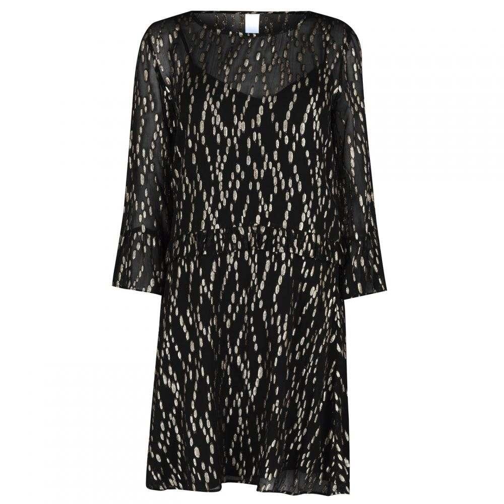 エムバイエム M by M レディース パーティードレス シフトドレス ワンピース・ドレス【MbyM Dej Shift Dress】GOLD BLACK