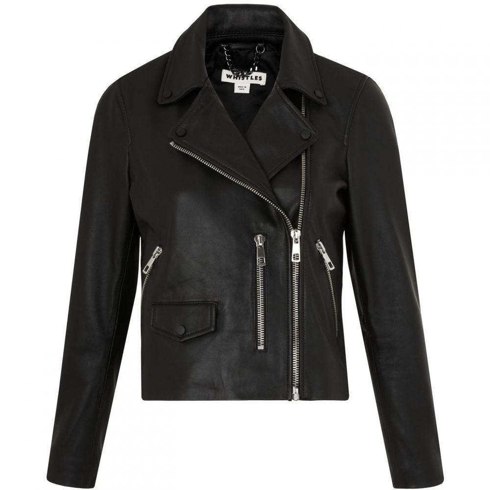 ホイッスルズ Whistles レディース レザージャケット ライダース アウター【Agnes Leather Biker Jacket】Black