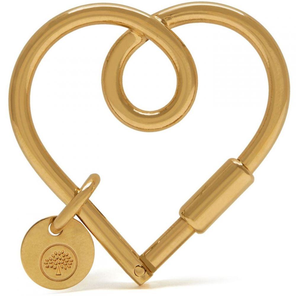 マルベリー Mulberry レディース キーホルダー キーリング【Looped heart keyring】Brass