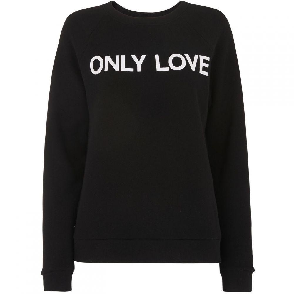 ホイッスルズ Whistles レディース スウェット・トレーナー トップス【Only Love Sweatshirt】Black