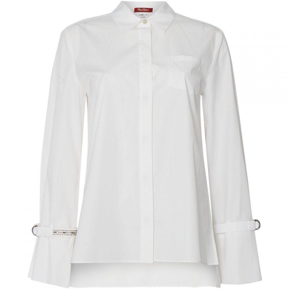 マックスマーラ Max Mara Studio レディース ブラウス・シャツ トップス【Frizzo shirt with cuffed sleeves】White