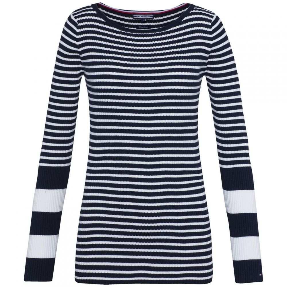 トミー ヒルフィガー Tommy Hilfiger レディース ニット・セーター トップス【Ivy Rib Boat-Neck Sweater】Blue Multi