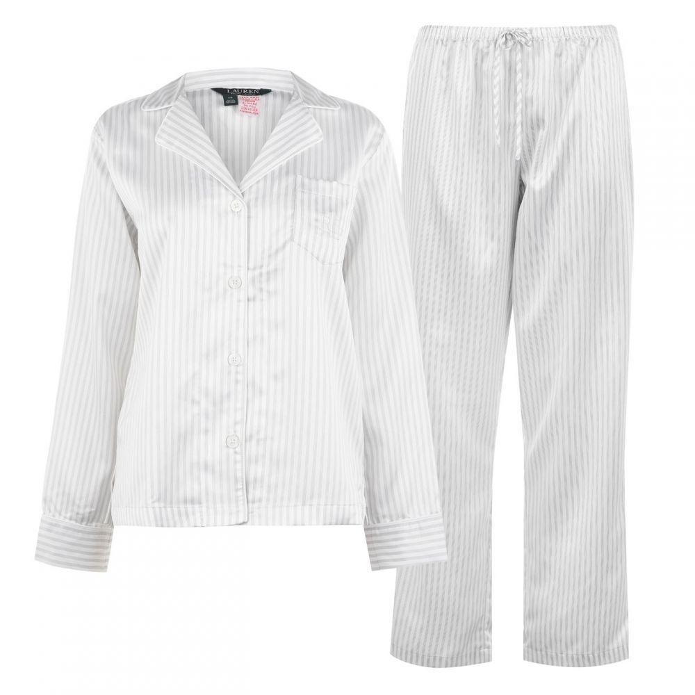 ラルフ ローレン Lauren Ralph Lauren Bodywear レディース パジャマ・上下セット インナー・下着【Striped Pyjamas】GREY STP