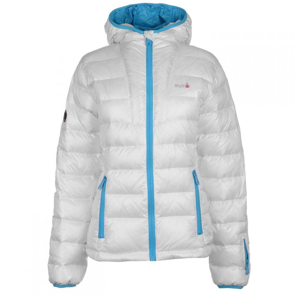 IFlow レディース ジャケット マウンテンジャケット アウター【Peak Mountain Jacket】White/Blue